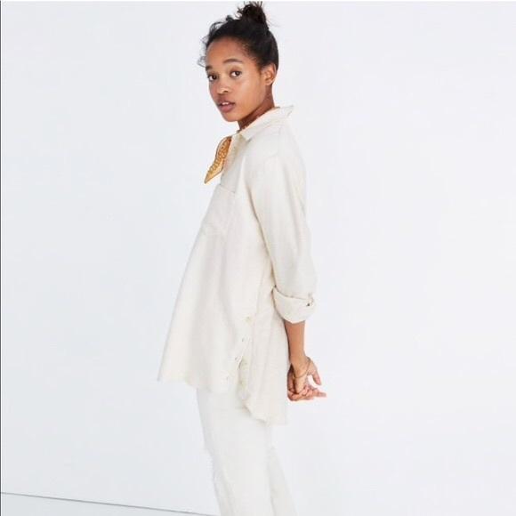 3607a213c4c Madewell Tops - Madewell Flannel Oversized Ex Boyfriend Shirt